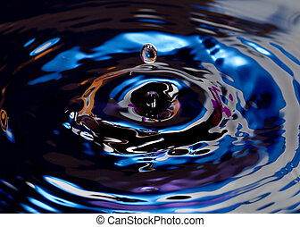 gotas, de, agua, con, resumen, color, filtros