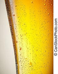 gotas, de, um, gelo, gelado, quartilho cerveja