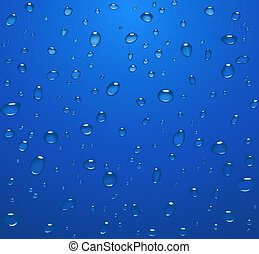 gotas del agua, transparente