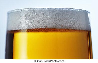 gotas, gelo, cerveja, cima, gelado, quartilho, fim