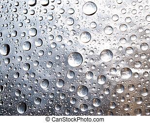 gotas, janela., chuva