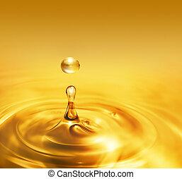 gotejando, óleo