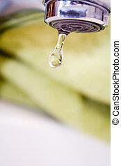 goteje água