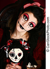 Goth Doll Costume Woman - Beautiful young middle eastern...