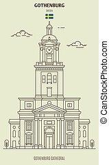 gothenburg, 大聖堂, sweden., ランドマーク, アイコン