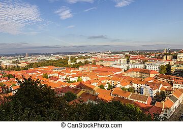 A view of Gothenburg from a viewpoint.