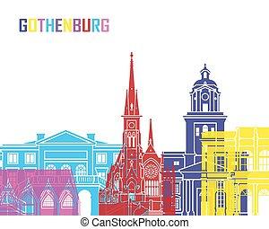 Gothenburg skyline pop