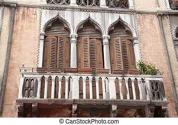 Gothic Balcony in Venice
