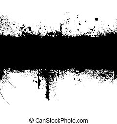 gothic banner - inky black banner with room to add your own...