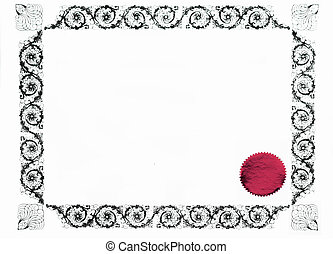 gothic border or frame - gothic certificate border and red...