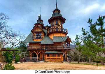 Gothic Castle - Fantasy castle built in the Ozark Mountains.