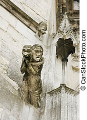 Gothic cathedral detail, chimera