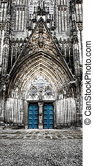 cathedral - gothic cathedral in magdeburg germany