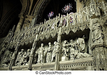 Gothic cathedral inside 2