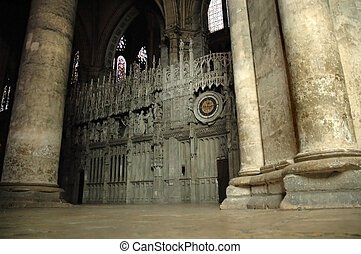 Gothic cathedral inside