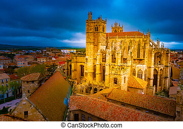 Cathedral of Narbonne, city in the south of France.
