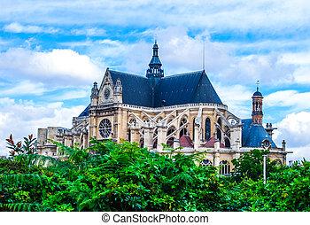 Gothic church in Paris