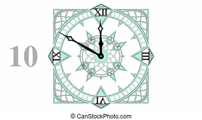 Gothic Countdown Clock Animation - Gothic Countdown Clock...