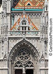 Gothic decorations on Matthias Church