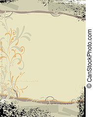 floral abstract background design in subtle gray colors