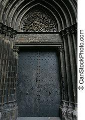 Gothic door in Spain