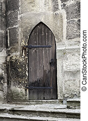 Gothic door.