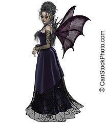 Gothic Fairy in Purple