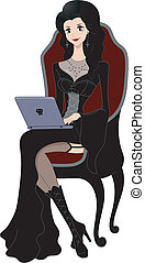 Gothic Girl Laptop