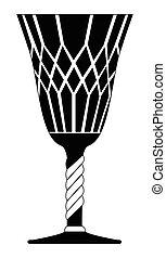 gothic goblet vector symbol icon design.