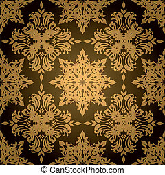 gothic gold leaf - Gold and black gothic style wallpaper ...