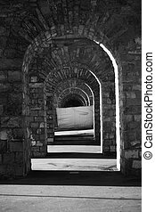 gothic passage - gothic stone passage architecture monument