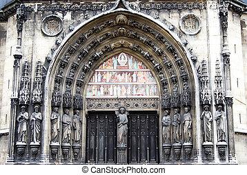 Gothic portal in Paris