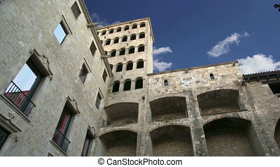Gothic Quarter.Barcelona, Spain - Buildings in the Gothic...