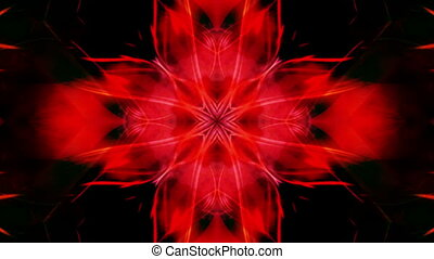 Gothic Red Looping Abstract Animated Background