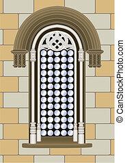 Gothic renaissance window - Italian gothic-reanaissance...
