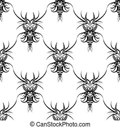 gothic repeat - Illustration of a gothic design that...