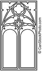 Gothic style frame - Frame for text in the Gothic style in...