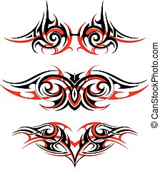 Gothic style tattoo set