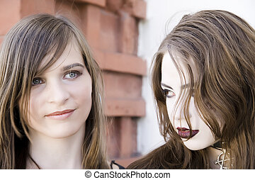 Teenagers With Gothic Make up