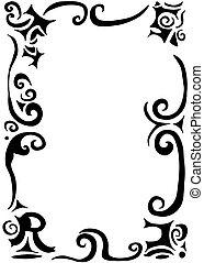 swirls and scrolls border - gothic swirls and scrolls border...