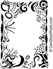 swirls and scrolls border