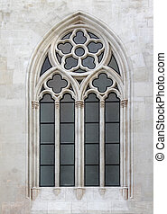 Gothic style church, decorated window.