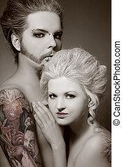 gothique, couple