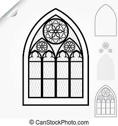 Fenetres cath drales gothique ch teaux elements for Fenetre gothique