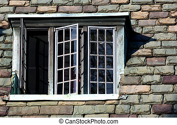 Nouveau vieux boston hancock deux dos c l bre for Fenetre gothique
