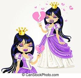 gotisch, prinsesje, het schreeuwen