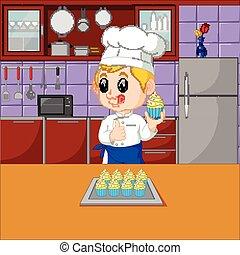 gotowanie, komplet, kuchmistrze