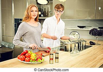 gotowanie, razem