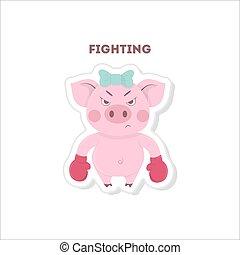 gotowy, pig., walka