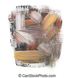 Gouache acrylic art paint brush rough dab stroke texture...